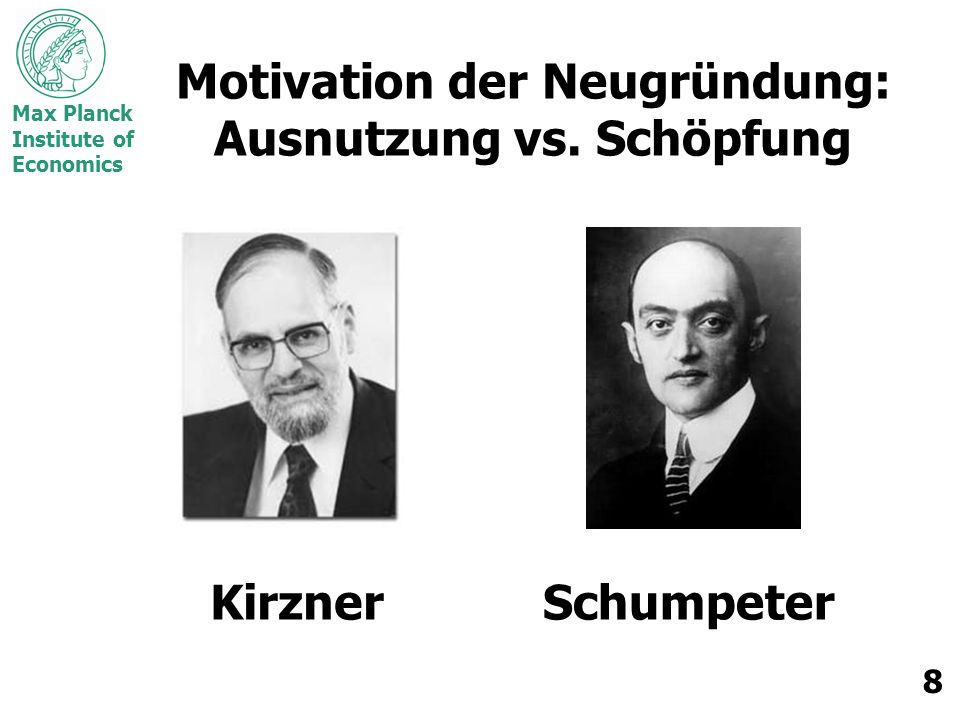 Motivation der Neugründung: Ausnutzung vs. Schöpfung