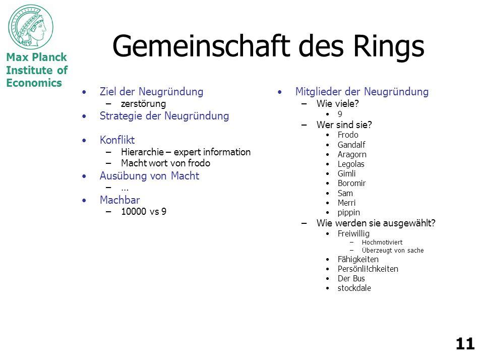 Gemeinschaft des Rings