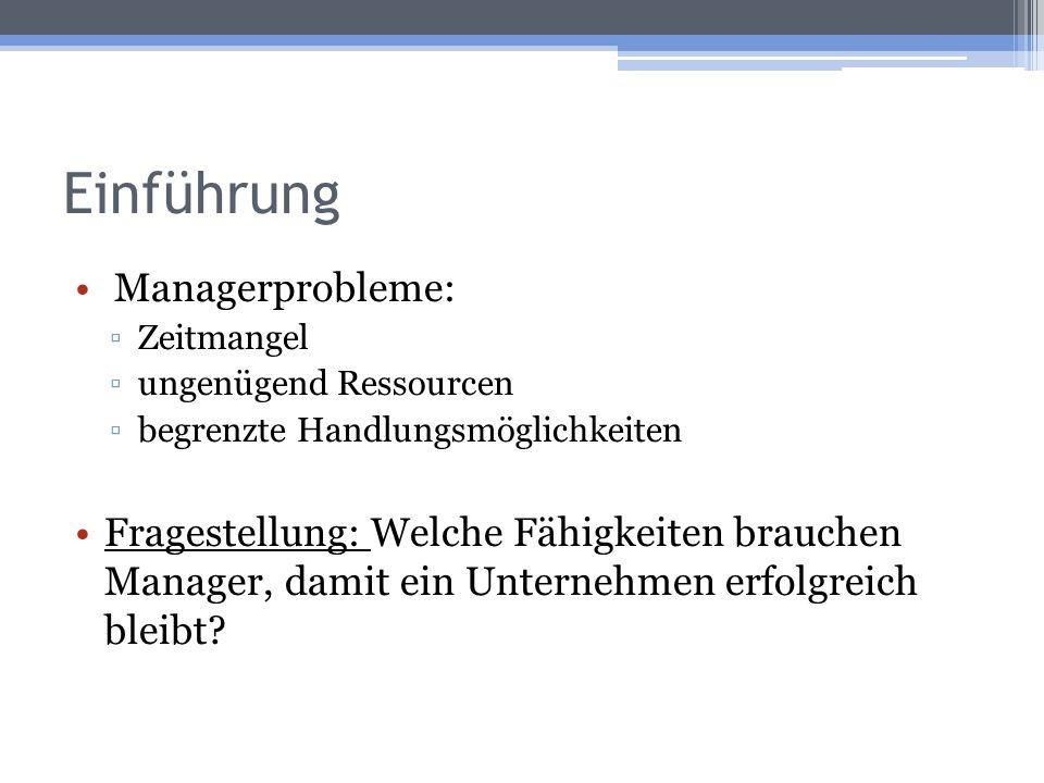 Einführung Managerprobleme: