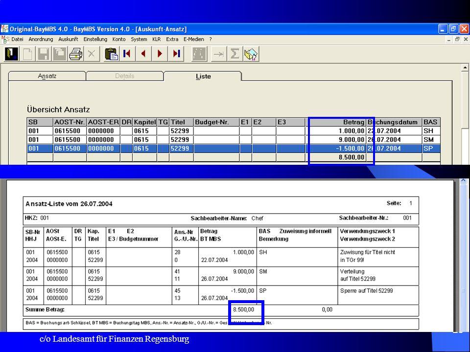 Ansatz:Liste: Die Summe aus der Betragsspalte wird nunmehr auch auf dem Listenausdruck angezeigt!