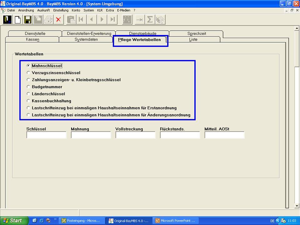 System: Umgebungsdaten: Registerkarte Wertetabellen (neu):