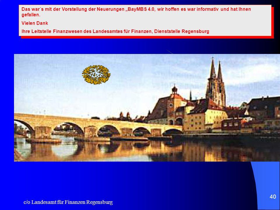 c/o Landesamt für Finanzen Regensburg