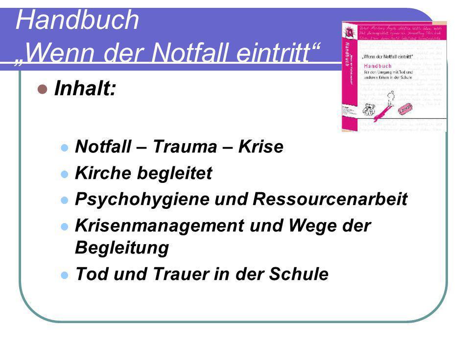 """Handbuch """"Wenn der Notfall eintritt"""