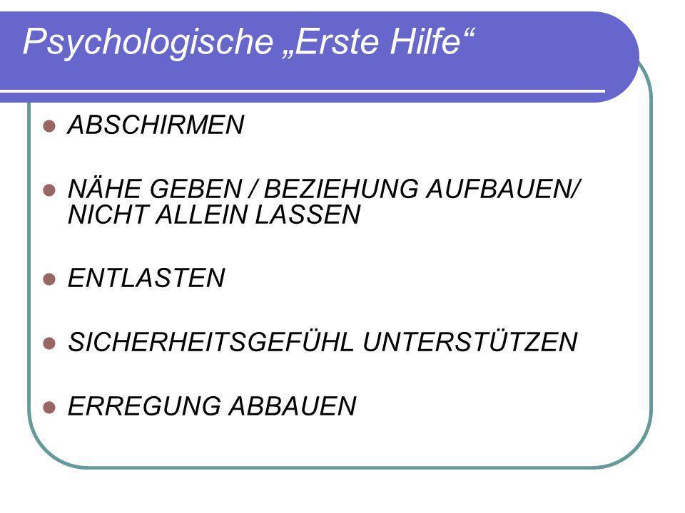 """Psychologische """"Erste Hilfe"""