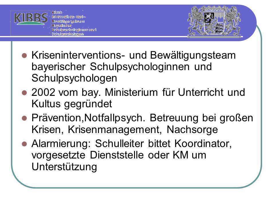 Kriseninterventions- und Bewältigungsteam bayerischer Schulpsychologinnen und Schulpsychologen