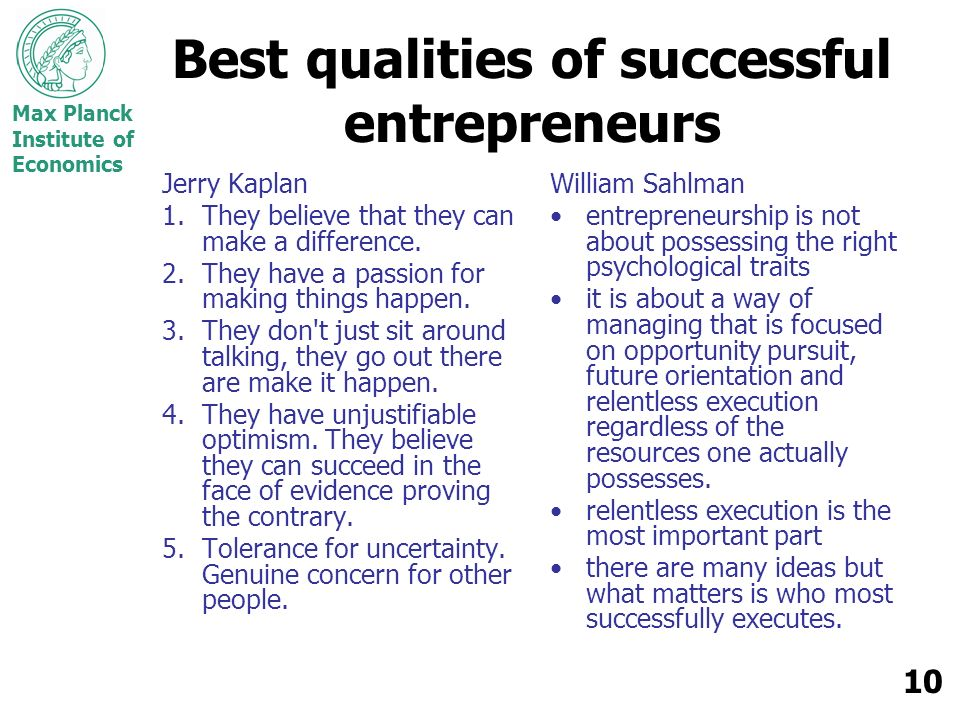 Best qualities of successful entrepreneurs