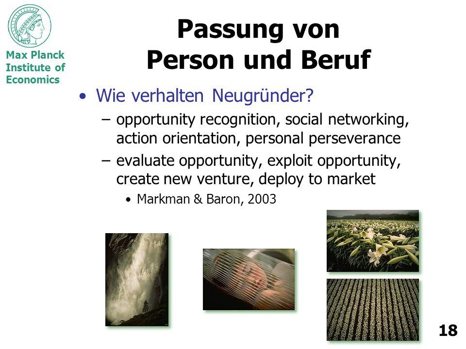 Passung von Person und Beruf