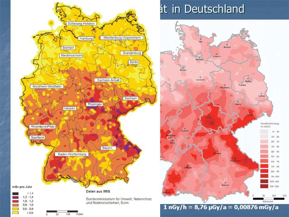 Umgebungsradioaktivität in Deutschland