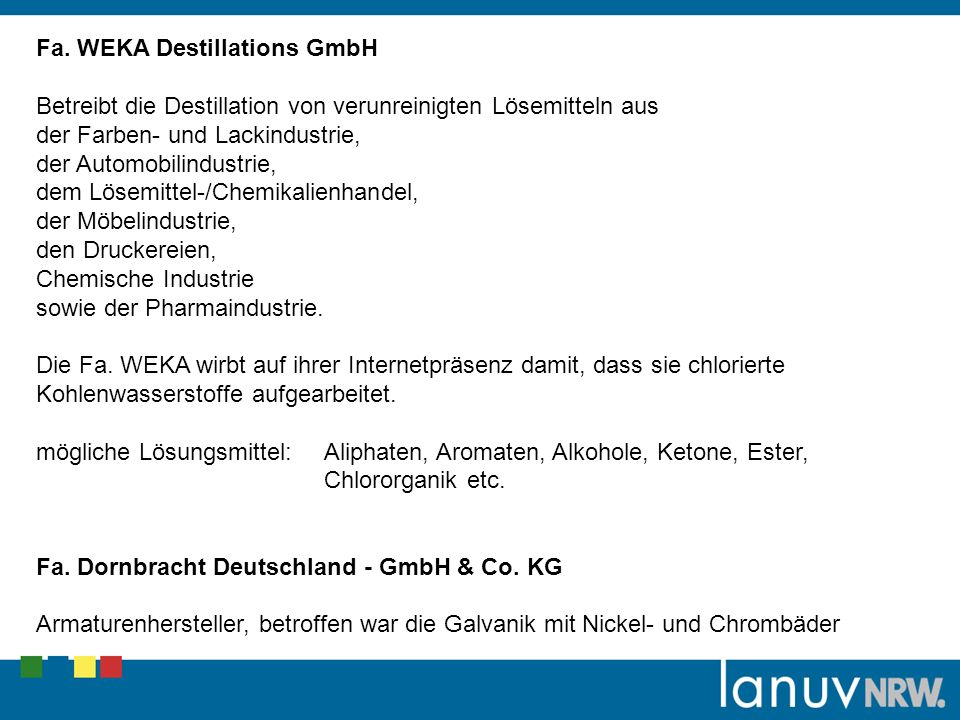 Fa. WEKA Destillations GmbH
