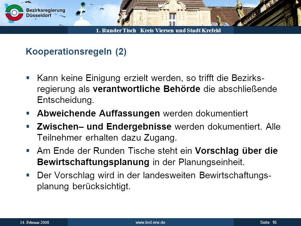 Kooperationsregeln (2)