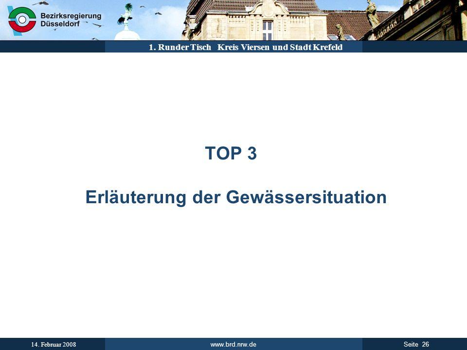 TOP 3 Erläuterung der Gewässersituation