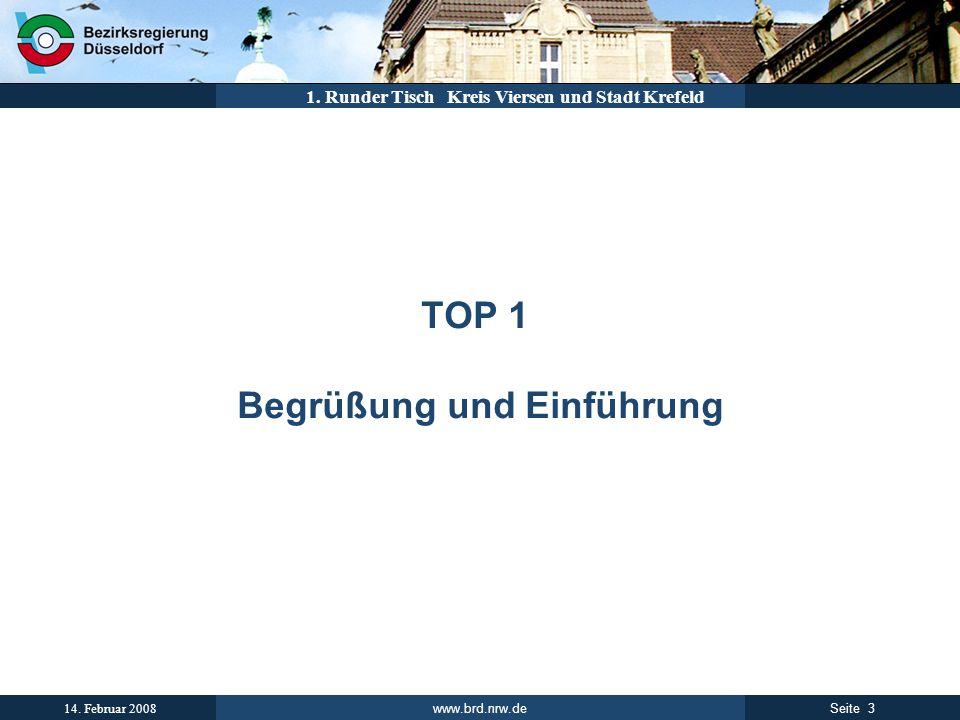TOP 1 Begrüßung und Einführung