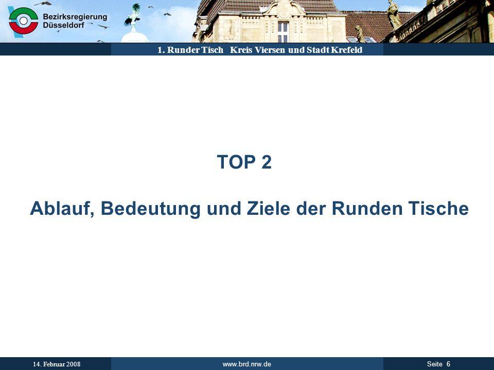 TOP 2 Ablauf, Bedeutung und Ziele der Runden Tische