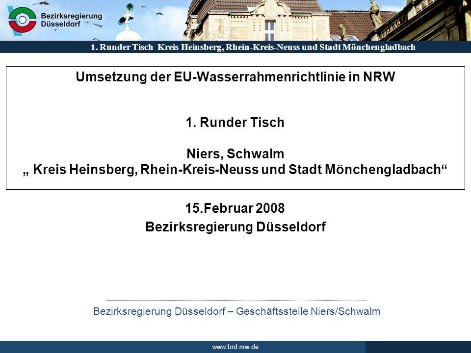 Runder Tisch 15.Februar 2008 Bezirksregierung Düsseldorf