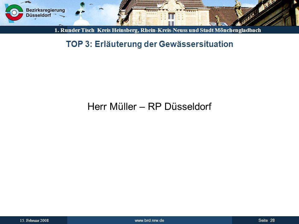 TOP 3: Erläuterung der Gewässersituation