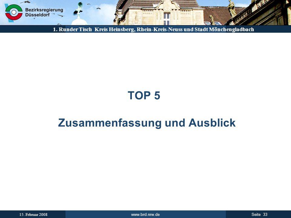 TOP 5 Zusammenfassung und Ausblick