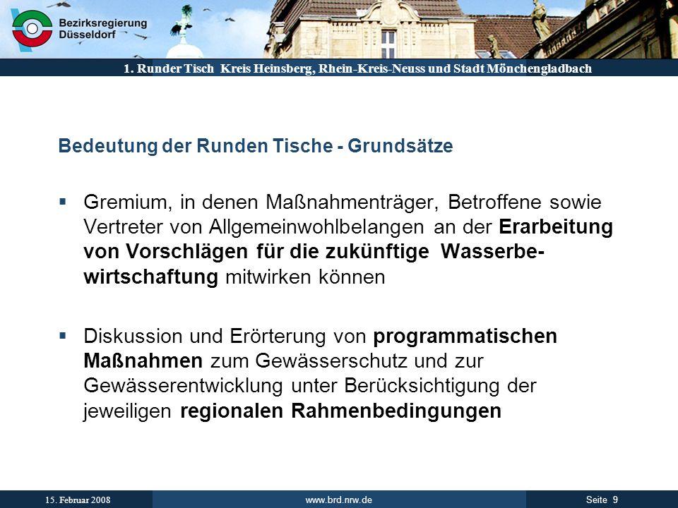 Runder TischBedeutung der Runden Tische - Grundsätze.