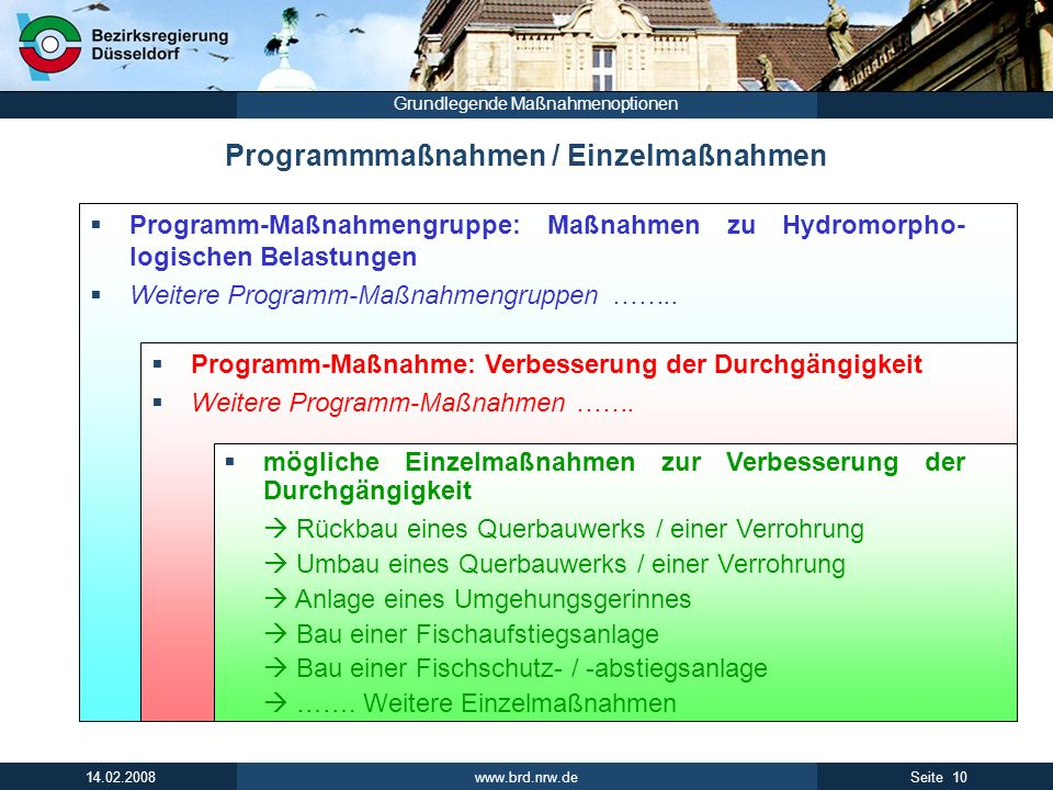 Programmmaßnahmen / Einzelmaßnahmen