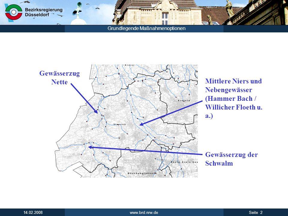 Gewässerzug Nette Mittlere Niers und Nebengewässer (Hammer Bach / Willicher Floeth u.