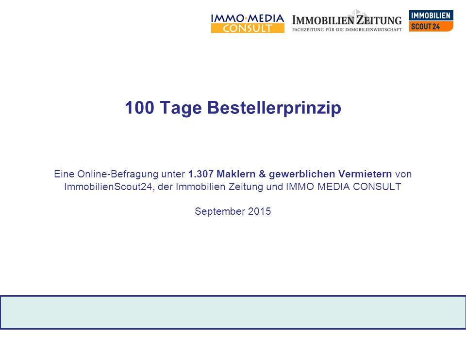 100 Tage Bestellerprinzip Eine Online-Befragung unter 1