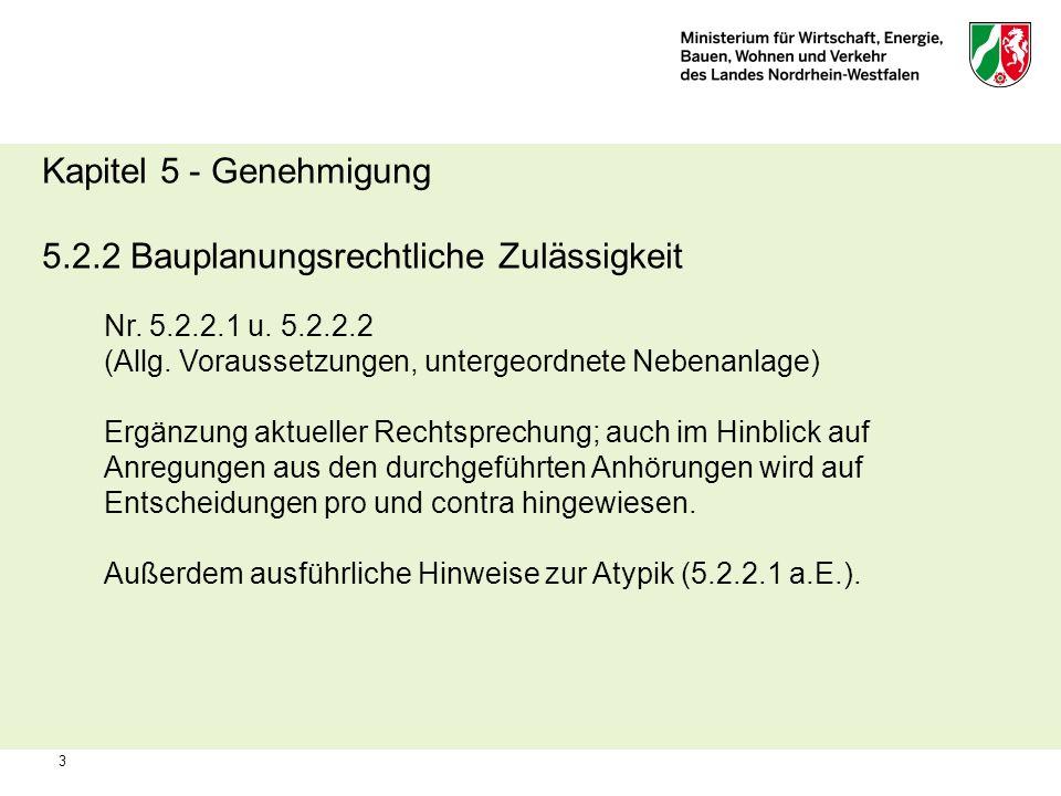 5.2.2 Bauplanungsrechtliche Zulässigkeit