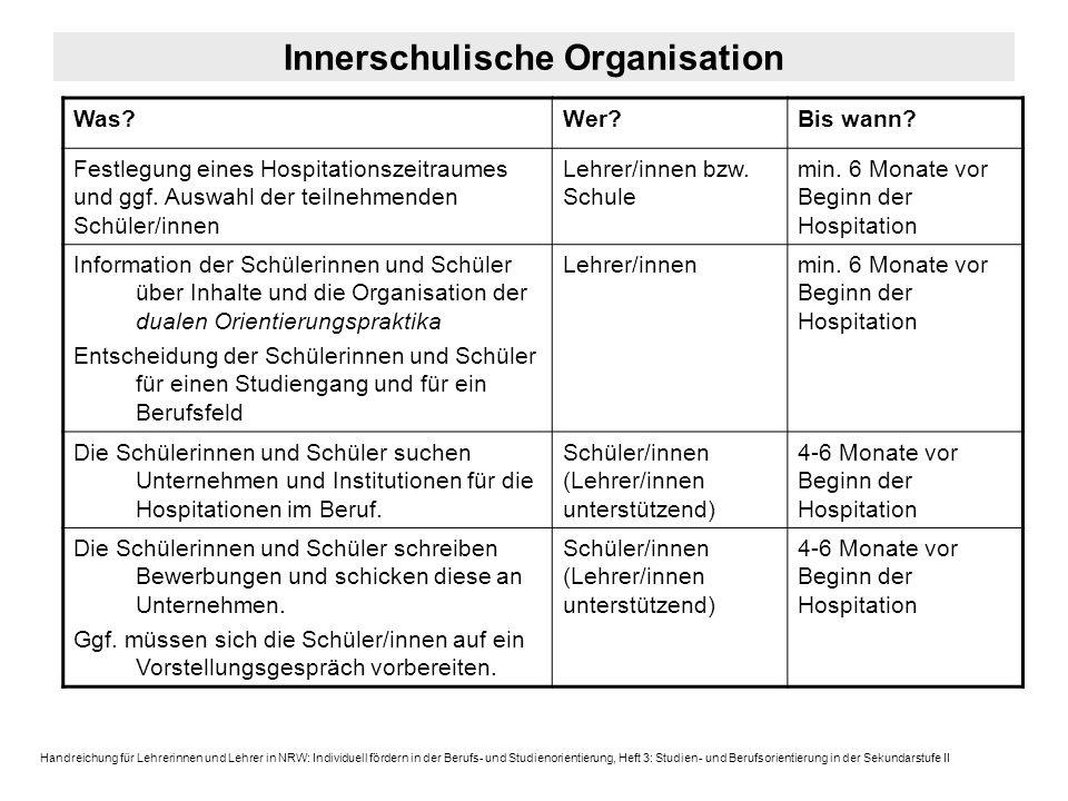 Innerschulische Organisation