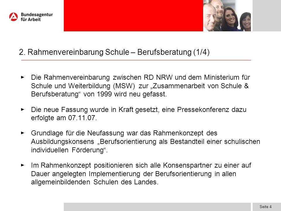 2. Rahmenvereinbarung Schule – Berufsberatung (1/4)