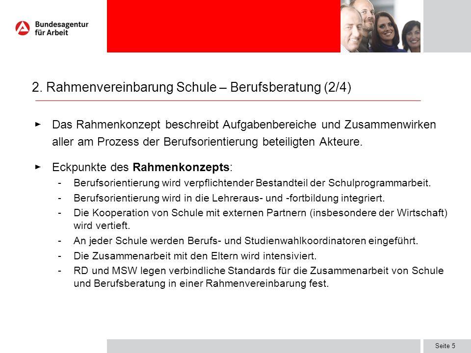 2. Rahmenvereinbarung Schule – Berufsberatung (2/4)