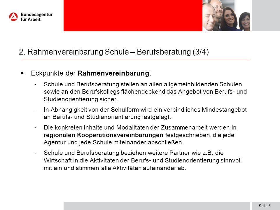 2. Rahmenvereinbarung Schule – Berufsberatung (3/4)
