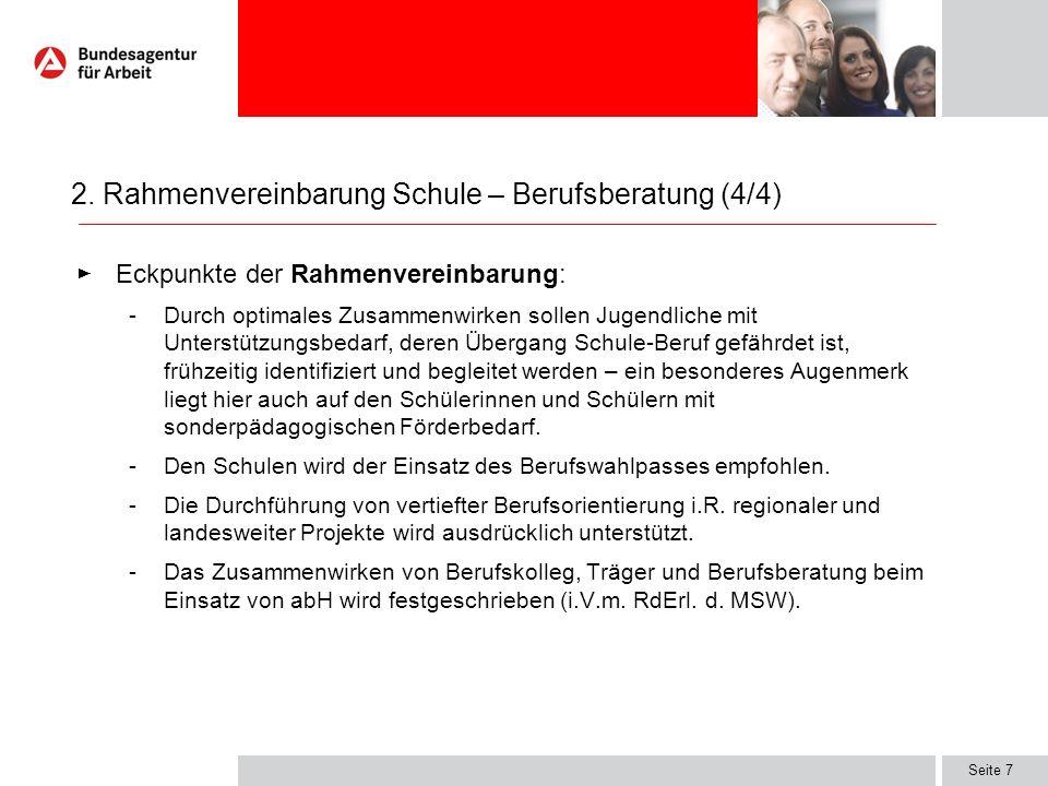2. Rahmenvereinbarung Schule – Berufsberatung (4/4)