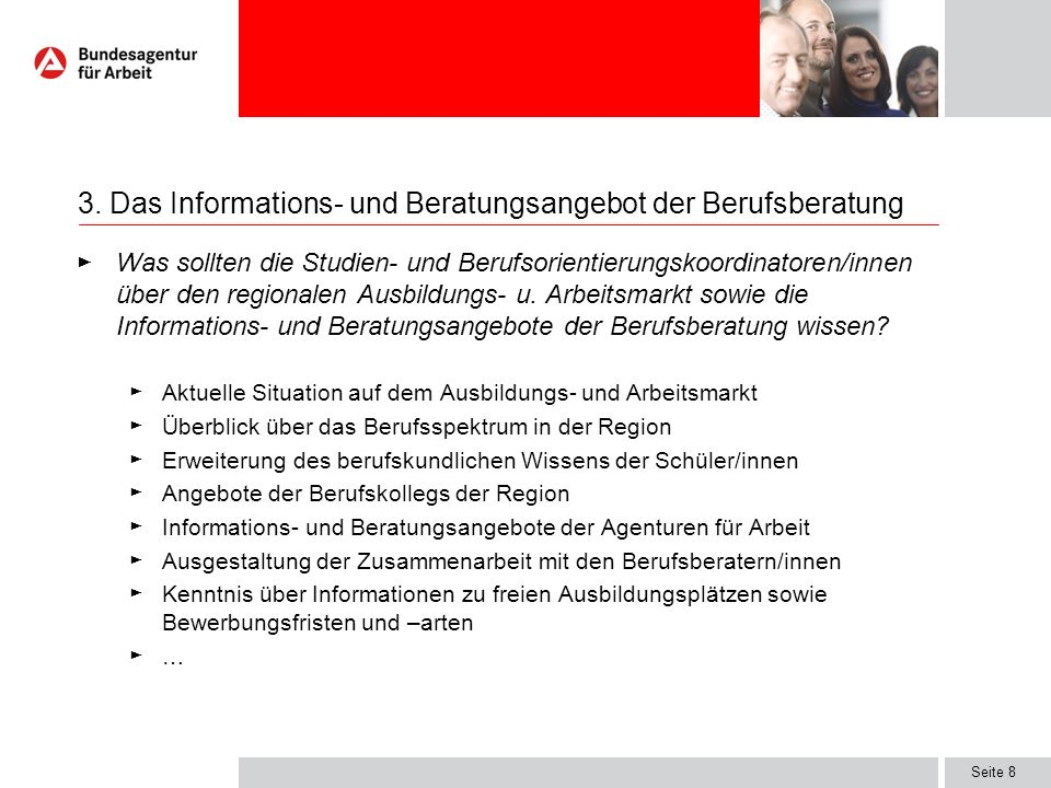 3. Das Informations- und Beratungsangebot der Berufsberatung