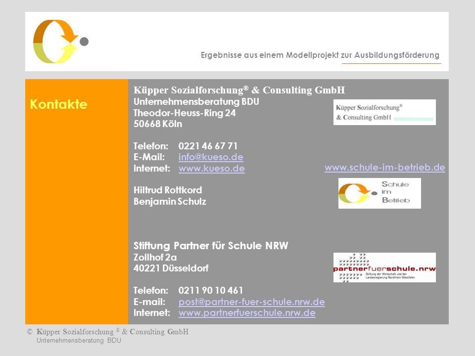 Kontakte Küpper Sozialforschung® & Consulting GmbH Unternehmensberatung BDU.