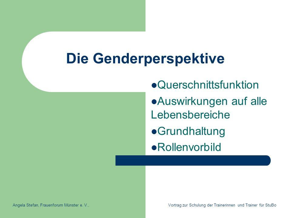 Die Genderperspektive