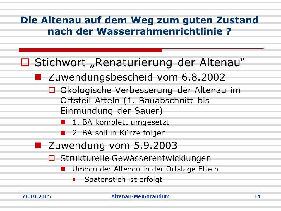 """Stichwort """"Renaturierung der Altenau"""