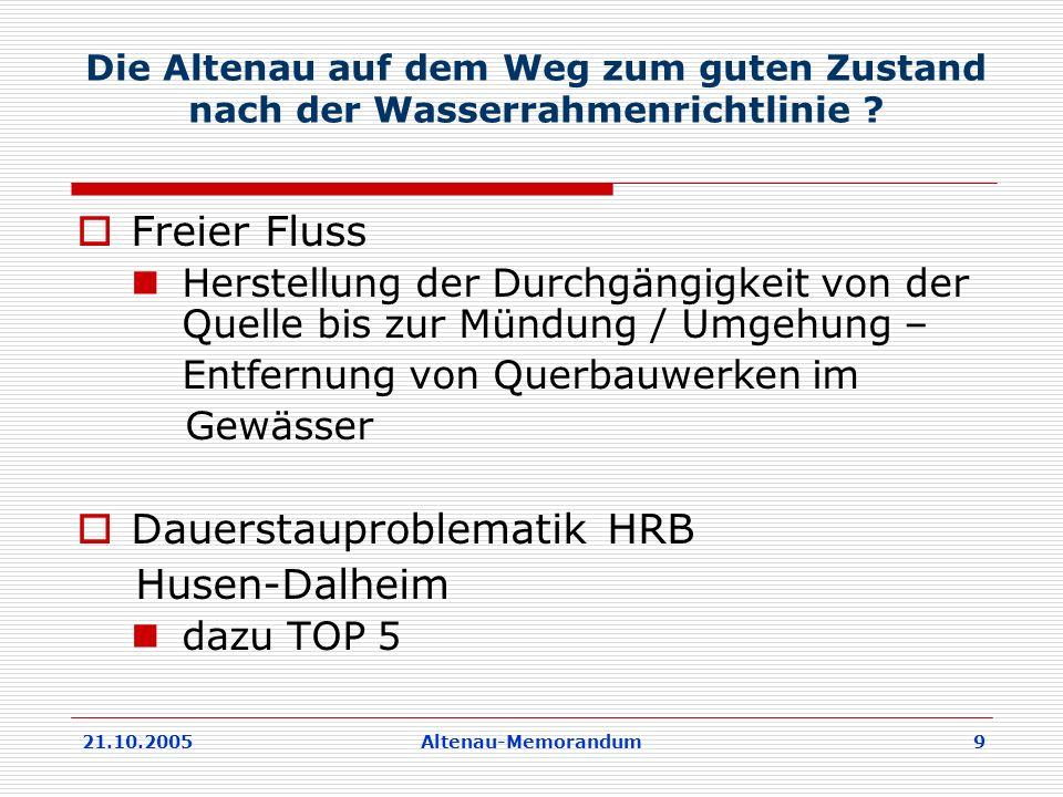 Dauerstauproblematik HRB Husen-Dalheim