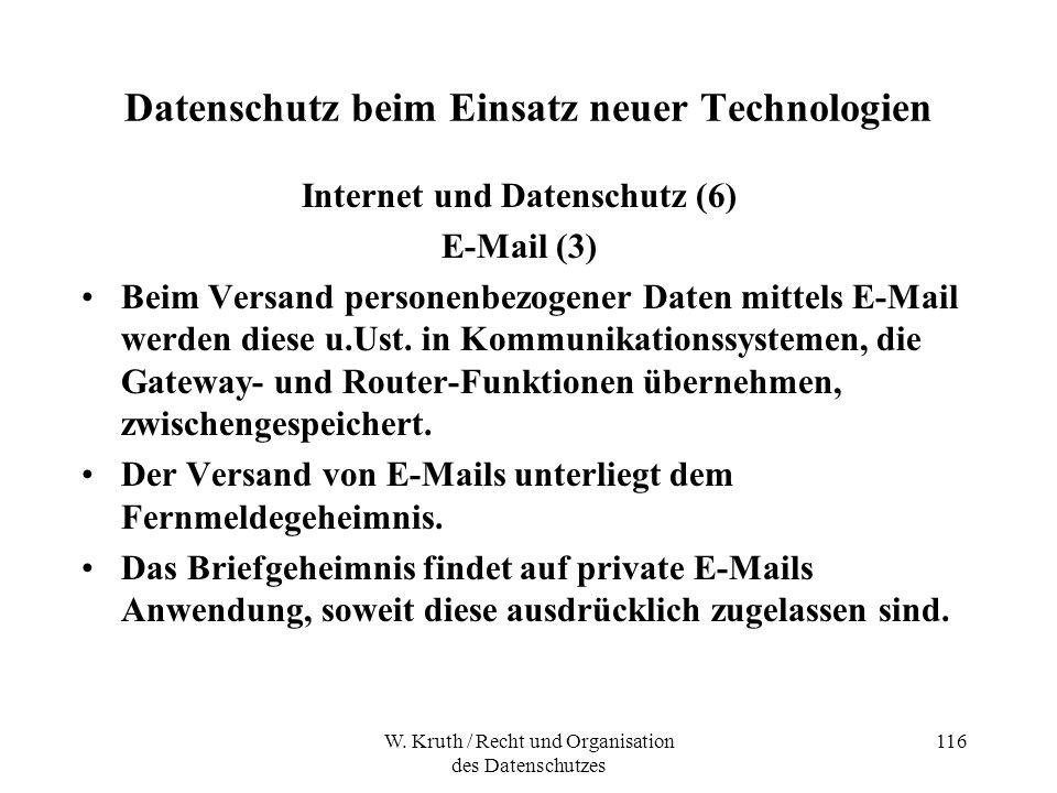 Datenschutz beim Einsatz neuer Technologien