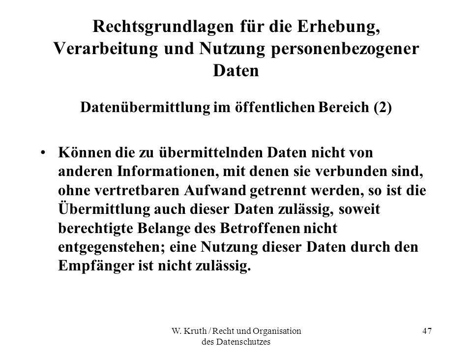 Datenübermittlung im öffentlichen Bereich (2)