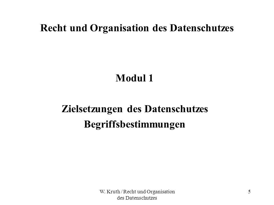 Recht und Organisation des Datenschutzes