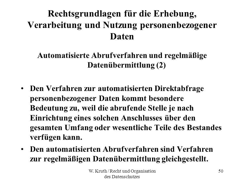 Automatisierte Abrufverfahren und regelmäßige Datenübermittlung (2)