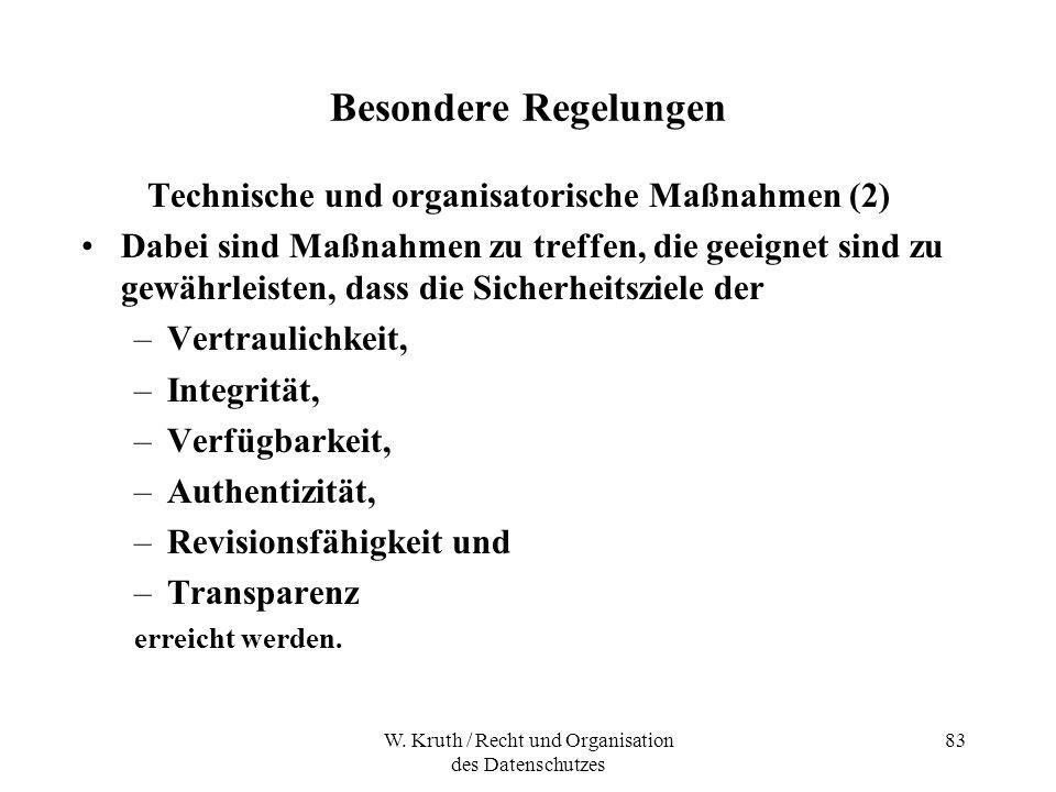 Technische und organisatorische Maßnahmen (2)