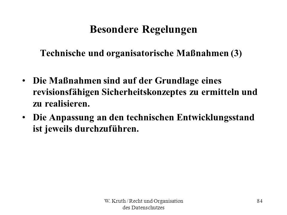 Technische und organisatorische Maßnahmen (3)