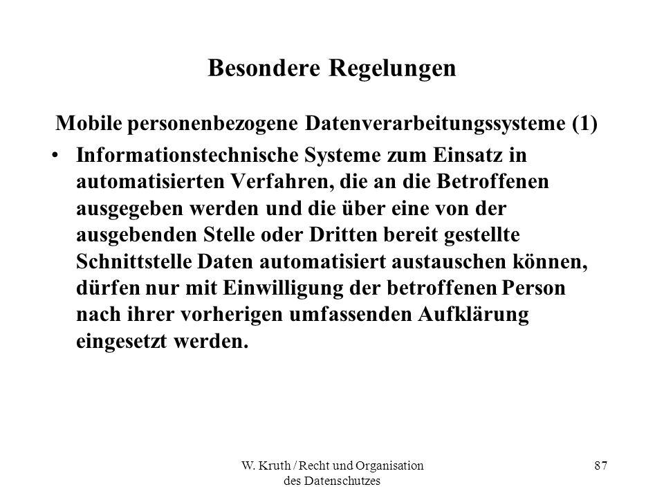 Mobile personenbezogene Datenverarbeitungssysteme (1)