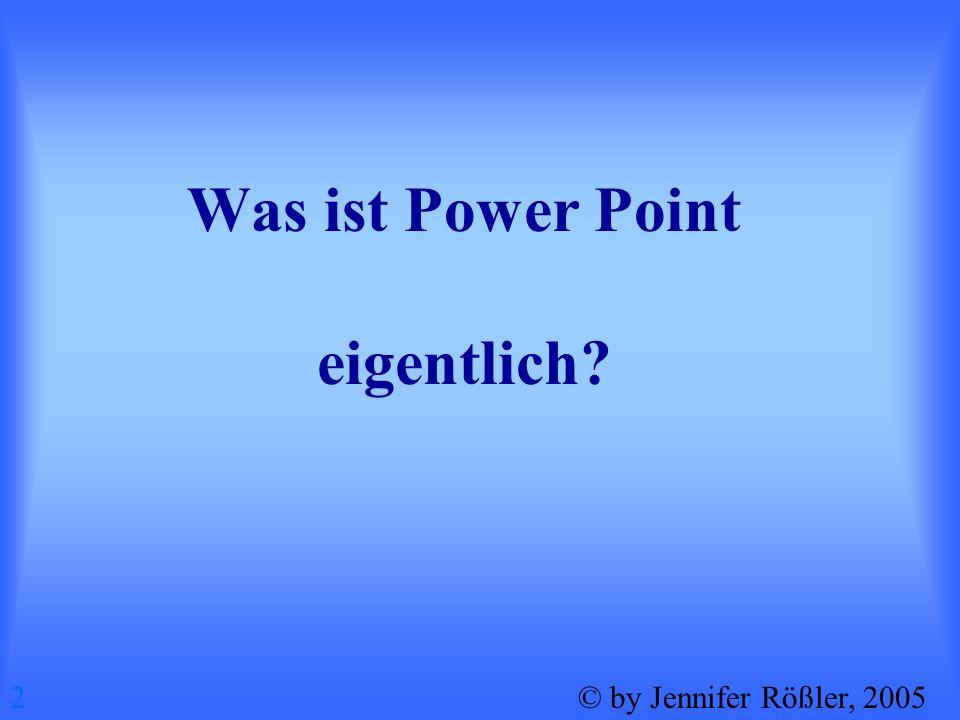 Was ist Power Point eigentlich