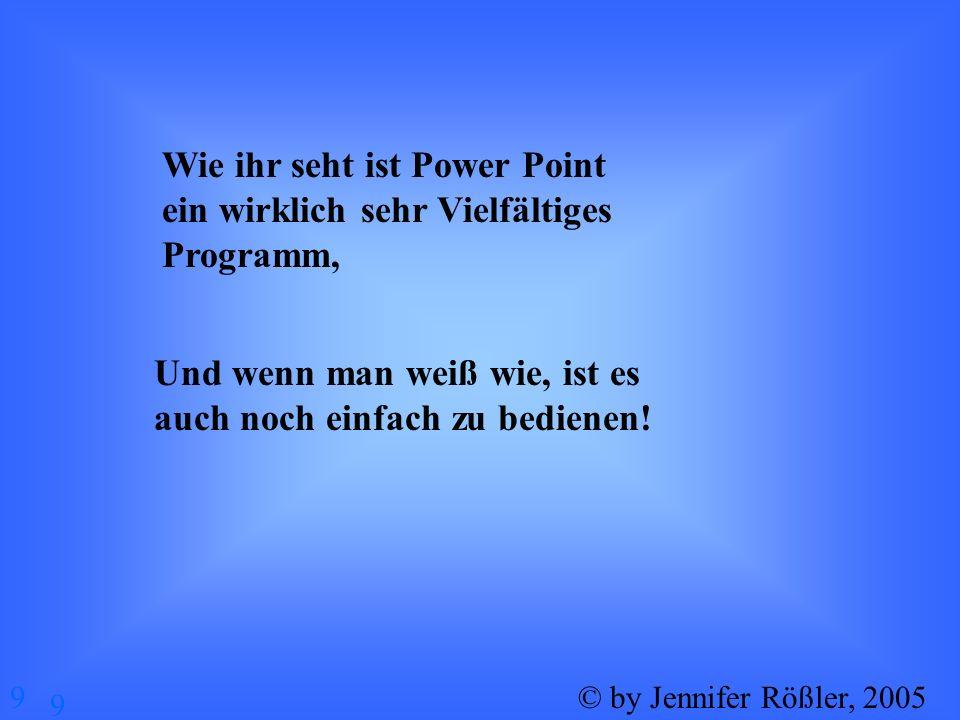 Wie ihr seht ist Power Point ein wirklich sehr Vielfältiges Programm,