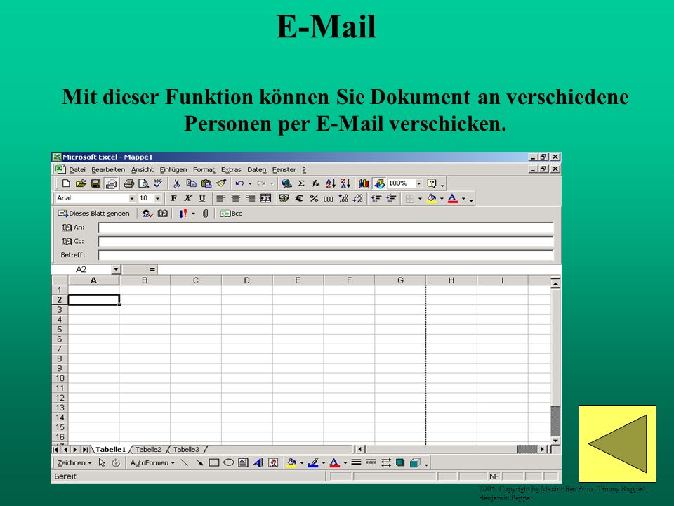 E-Mail Mit dieser Funktion können Sie Dokument an verschiedene Personen per E-Mail verschicken.