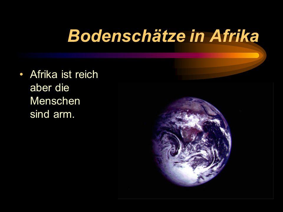 Bodenschätze in Afrika