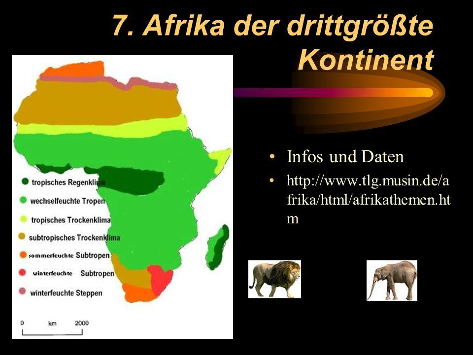 7. Afrika der drittgrößte Kontinent