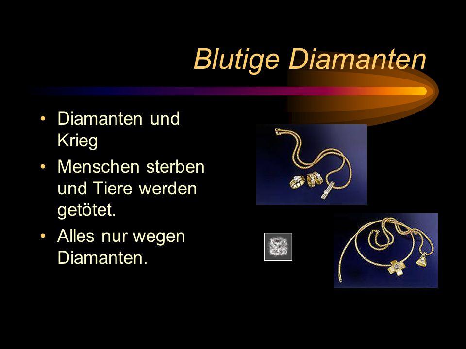 Blutige Diamanten Diamanten und Krieg