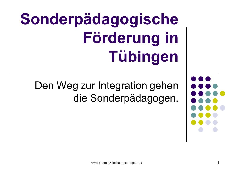 Sonderpädagogische Förderung in Tübingen