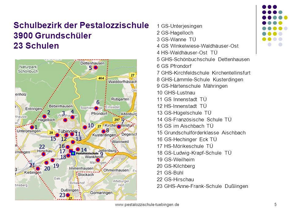 Schulbezirk der Pestalozzischule 3900 Grundschüler 23 Schulen